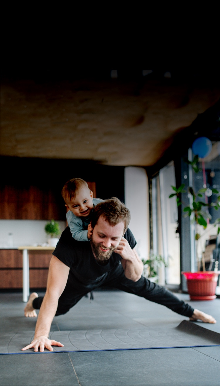 father practice with son